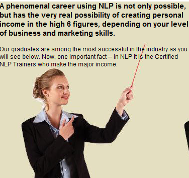 Certified NLP Trainers make more income
