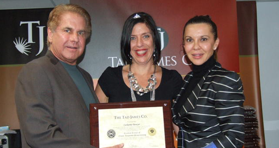 NLP | Dr. Tad James and Dr. Adriana James with a satisfied graduate